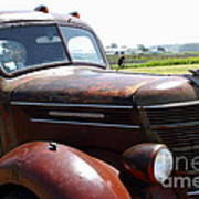 Rusty Old 1935 International Truck . 7d15509 Poster by Wingsdomain Art and Photography