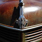 Rusty Old 1935 International Truck Hood Ornament. 7d15503 Poster by Wingsdomain Art and Photography