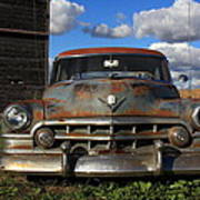 Rusty Old Cadillac Poster