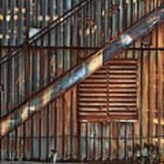 Rusty Stairway Poster by Brenda Bryant