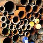 Rusty Steel Pipes Poster