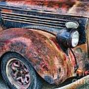 Rusty Truck Hood And Fender Poster