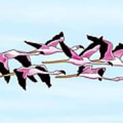 Sa Genti Arrubia  Flamingos Poster