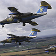 Saab 105 Jet Trainers Of The Swedish Poster