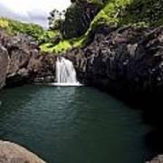 Sacred Pool And Waterfall Poster