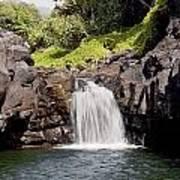 Sacred Pool Waterfall Poster