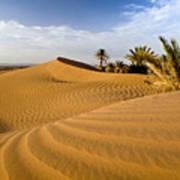 Sahara Desert At M'hamid, Morocco, Africa Poster