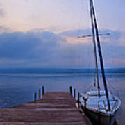 Sailboat And Dock Poster