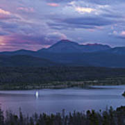 Sailboat On Lake Dillon Below A Clearing Storm, Colorado, Usa, August 2010 Poster by Timothy Faust
