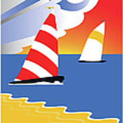 Sailing Before The Wind Poster