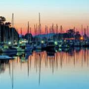 Sailing Boats In Coal Harbour Poster