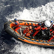 Sailors Conducting Small Boat Training Poster