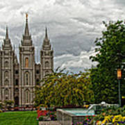 Salt Lake City Temple Grounds Poster