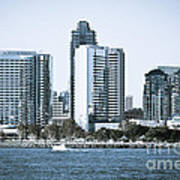 San Diego Downtown Waterfront Buildings Poster