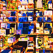 San Francisco Birdseye Abstract . Painterly Poster by Wingsdomain Art and Photography
