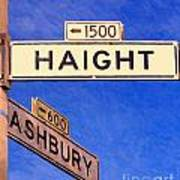 San Francisco Haight Ashbury Poster
