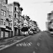 San Francisco Side Street-black And White Poster