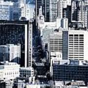 San Francisco Skyline-grunge Poster