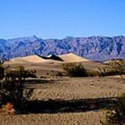 Sand Dunes In Death Valley Poster