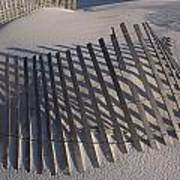 Sand Fence On The Beach In Destin Poster by Marc Moritsch