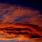 Sandia Heights Fiery Sunset Panoramic Poster