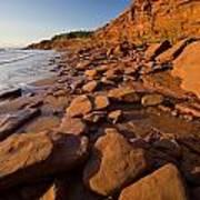 Sandstone Cliffs, Cape Turner, Prince Poster by John Sylvester