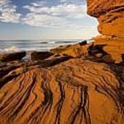 Sandstone Cliffs, Cavendish, Prince Poster