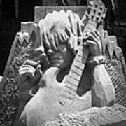 Sandy Rock Musician Poster