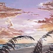 Sanibel Island Sunset Poster by Jack Skinner