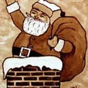 Santa Claus Gifts Original Coffee Painting Poster