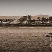 Santa Cruz Boardwalk Sepia Poster