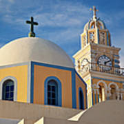 Santorini Church Poster