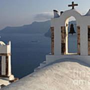 Santorini Churches Poster