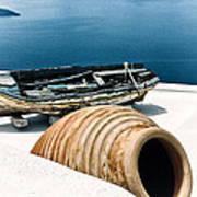 Santorini Still Life Poster