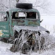 Saranac Cities Service Truck Poster