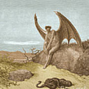 Satan Finding Serpent, By Dore Poster