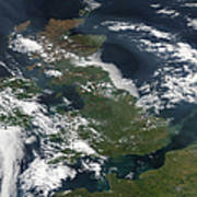 Satellite Image Of Smog Over The United Poster