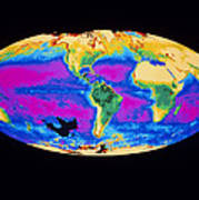 Satellite Image Of The Earth's Biosphere Poster