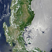 Satellite Image Of The Northern Poster