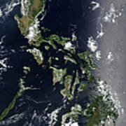 Satellite Image Of The Philippines Poster