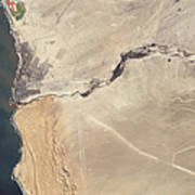 Satellite Image Of The Swakop River Poster