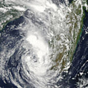 Satellite View Of Cyclone Giovanna Poster