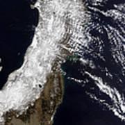 Satellite View Of Northeast Japan Poster by Stocktrek Images