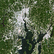 Satellite View Of The Pawtucket Poster