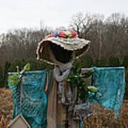 Scarecrow Garden Art Poster