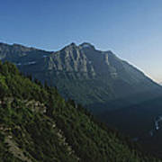 Scenic Overlook In Glacier National Poster