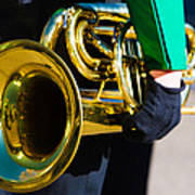 School Band Horn Poster