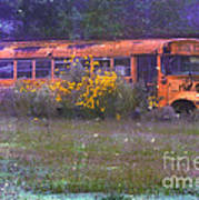 School Bus Out To Pasture Poster by Judi Bagwell