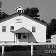 School House In Black And White Poster
