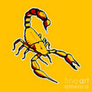 Scorpion Graphic  Poster by Pixel Chimp